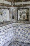 Marbel garnering av gravvalvet av Itimad-ud-Daulah eller behandla som ett barn Taj i Agra, Indien Arkivbild