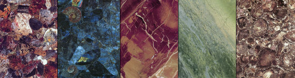 Marbel speciale piatti di una pietra del granito Fotografia Stock
