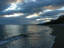 marbella ηλιοβασίλεμα Στοκ εικόνες με δικαίωμα ελεύθερης χρήσης