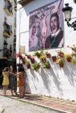 MARBELLA, ANDALUCIA/SPAIN - 23 ΜΑΐΟΥ: Σκηνή Plaza Fernando οδών Στοκ φωτογραφίες με δικαίωμα ελεύθερης χρήσης
