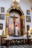 MARBELLA, ANDALUCIA/SPAIN - 6 JULI: Standbeeld van Christus in Chu stock fotografie