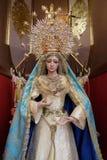MARBELLA ANDALUCIA/SPAIN - JULI 6: Staty av Madonna i th Fotografering för Bildbyråer