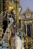 MARBELLA ANDALUCIA/SPAIN - JULI 6: Staty av Madonna i th Arkivbild