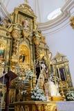 MARBELLA ANDALUCIA/SPAIN - JULI 6: Staty av Madonna i th Arkivbilder