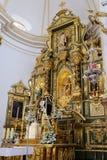 MARBELLA, ANDALUCIA/SPAIN - 6 LUGLIO: Altare dorato nella chiesa Immagine Stock Libera da Diritti
