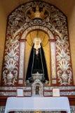 MARBELLA, ANDALUCIA/SPAIN - 6 LUGLIO: Altare nella chiesa della E Fotografia Stock Libera da Diritti