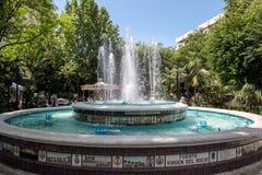 MARBELLA ANDALUCIA/SPAIN - MAJ 23: Springbrunn Virgen Del Rocio I royaltyfria foton