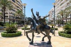 MARBELLA, ANDALUCIA/SPAIN - MAJ 23: Trajano Jedzie konia Stat Zdjęcie Stock