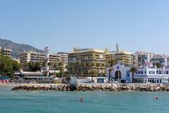MARBELLA, ANDALUCIA/SPAIN - MAJ 26: Widok latarnia morska w M Zdjęcie Royalty Free