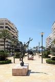 MARBELLA, ANDALUCIA/SPAIN - MAY 23 : Mercurio Statue by Salvador Royalty Free Stock Images