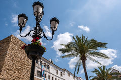 MARBELLA, ANDALUCIA/SPAIN - MAY 23 : Ornate Street Lamp in the O Royalty Free Stock Photos