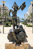 MARBELLA, ANDALUCIA/SPAIN - MAY 23 : Perseo Statue by Dali in Ma Royalty Free Stock Photography