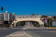 Marbella båge arkivfoto