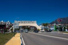 Marbella båge fotografering för bildbyråer