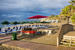 Marbella Beach on Costa del Sol in Spain Royalty Free Stock Images
