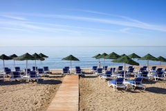 Marbella Beach on Costa del Sol in Spain Stock Photo