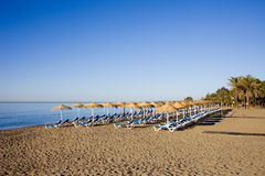 Marbella Beach on Costa del Sol in Spain Royalty Free Stock Photo