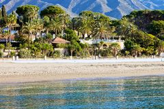 Marbella Beach Summer Holiday Scenery Stock Images