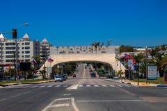 Marbella-Bogen stockbilder