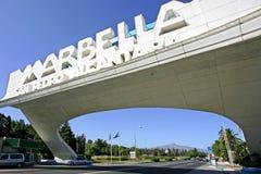 Marbella Bogen in San Pedro in Spanien stockfotografie