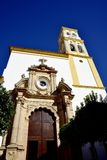 The Parish Church in the old Town of Marbella on the Costa Del Sol in Spain Europe. Marbella is a city in Andalusia,Spain, by the Mediterranean, situated in the stock image