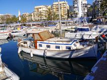 The Marina in the stylish resort of Marbella on the Costa Del Sol in Andalucia Spain Stock Photo