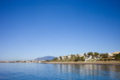 Marbella City Skyline on Costa del Sol Royalty Free Stock Photos