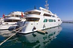 Marbella, Espagne le 3 septembre 2014 : Yacht de luxe célèbre de Madame Haya Images libres de droits