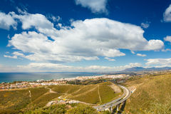 Marbella from a Hill Royalty Free Stock Photo