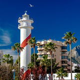 Marbella lighthouse Stock Images