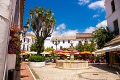 Marbella , Plaza de los Naranjos Stock Images