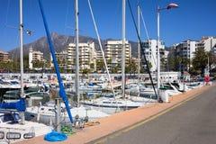 marbella port Arkivfoton