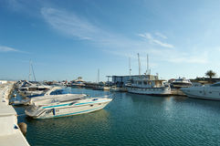 Marbella port. Cabopino port in Marbella with boats and yachts Royalty Free Stock Photo
