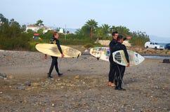 #Marbella praticante il surfing Fotografia Stock