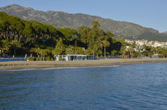 Marbella shoreline Stock Photo