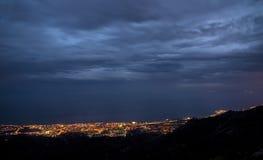 Marbella sikt från maximumet av berget Royaltyfria Foton