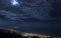 Marbella sikt från maximumet av berget Fotografering för Bildbyråer