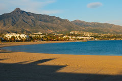 Marbella strand Stock Afbeelding