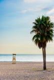 Marbella-Strand im Abendlicht (vertikal) Lizenzfreie Stockfotografie