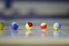 Marbels en verre colorés Photo libre de droits