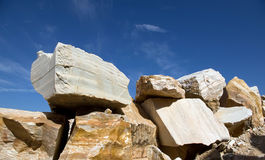 Marble. Huge blocks of marble from an extraction industry in Portugal royalty free stock image