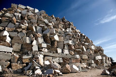 Marble. Pile of huge blocks of marble from an extraction industry in Portugal stock photos