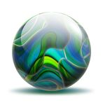 Marble. Colorful glossy marble orb illustration royalty free illustration