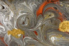 Marble abstract acrylic background. Nature marbling artwork texture. Ink pattern Royalty Free Stock Images