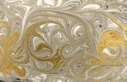 Marble abstract acrylic background. Nature marbling artwork texture. Ink pattern Stock Image