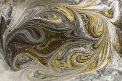 Marble abstract acrylic background. Nature marbling artwork texture. Ink pattern Stock Photos
