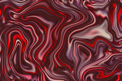 Marble abstract background digital illustration. Bright red surface design with mesh of dark red paint. P Royalty Free Stock Photos
