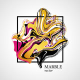 Marble abstract geometry symbol cube Stock Photography