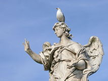 Marble angel. Michaelangelo bridge. Rome. Royalty Free Stock Photos