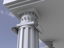 Marble antique column. Ancient marble antique 3d column royalty free illustration